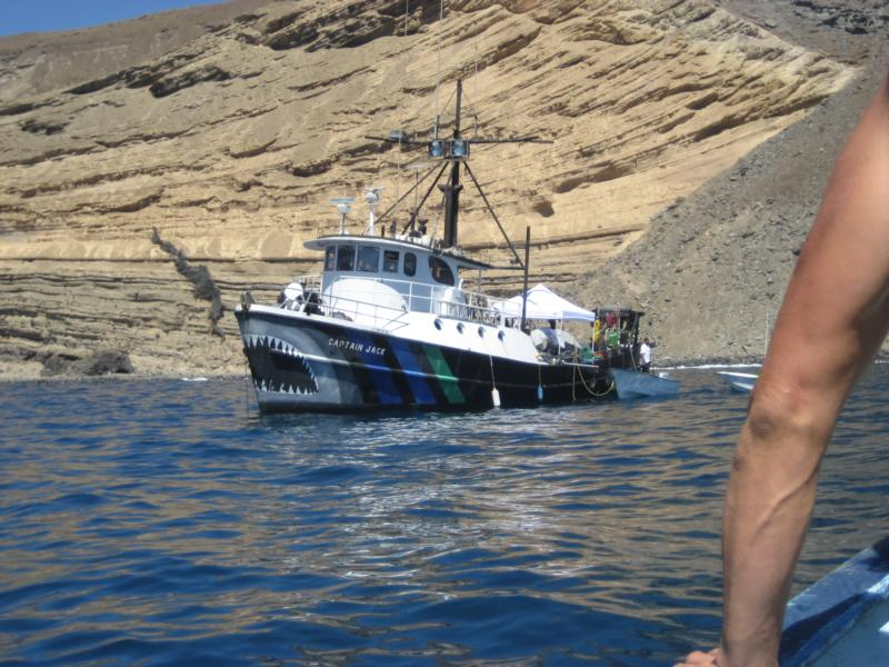 capt chris taking over the captain jack isla guadalupe white shark expedition nat geo